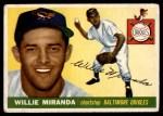 1955 Topps #154  Willie Miranda  Front Thumbnail