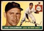 1955 Topps #162  Joe Coleman  Front Thumbnail