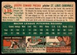 1954 Topps #135  Joe Presko  Back Thumbnail