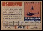 1952 Topps Wings #72   Venom Back Thumbnail