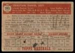 1952 Topps #293  Sibby Sisti  Back Thumbnail