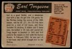 1955 Bowman #210  Earl Torgeson  Back Thumbnail