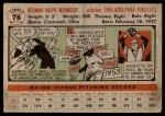 1956 Topps #78  Herm Wehmeier  Back Thumbnail