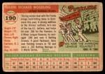 1955 Topps #190  Gene Woodling  Back Thumbnail