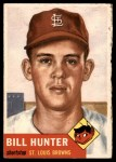 1953 Topps #166  Bill Hunter  Front Thumbnail