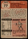 1953 Topps #77  Johnny Mize  Back Thumbnail