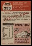 1953 Topps #233  Al Aber  Back Thumbnail