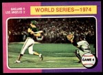 1975 Topps Mini #464   -  Ken Holtzman / Steve Yeager 1974 World Series - Game #4 Front Thumbnail
