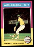 1975 Topps Mini #463   -  Rollie Fingers 1974 World Series - Game #3 Front Thumbnail