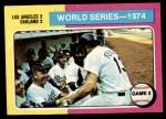 1975 Topps Mini #462   -  Walter Alston / Joe Ferguson 1974 World Series - Game #2 Front Thumbnail