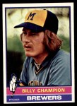 1976 Topps #501  Billy Champion  Front Thumbnail