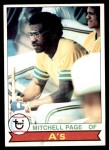 1979 Topps #295  Mitchell Page  Front Thumbnail