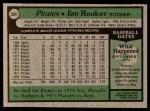 1979 Topps #584  Jim Rooker  Back Thumbnail