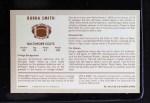 1970 Kellogg's #46  Bubba Smith  Back Thumbnail