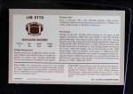 1970 Kellogg's #2  Jim Otto  Back Thumbnail
