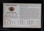 1970 Kellogg's #5  Travis Williams  Back Thumbnail