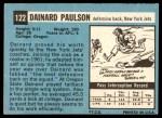 1964 Topps #122  Dainard Paulsen  Back Thumbnail