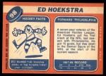 1968 Topps #98  Ed Hoekstra  Back Thumbnail