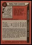 1979 Topps #80  Walter Davis  Back Thumbnail