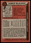1979 Topps #131  James McElroy  Back Thumbnail