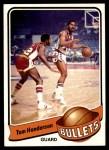 1979 Topps #18  Tom Henderson  Front Thumbnail