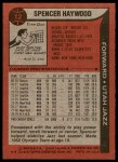 1979 Topps #12  Spencer Haywood  Back Thumbnail