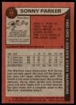 1979 Topps #36  Sonny Parker  Back Thumbnail