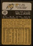 1973 Topps #297  Walt Williams  Back Thumbnail