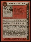 1979 Topps #84  Terry Tyler  Back Thumbnail