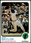 1973 Topps #384  Don Baylor  Front Thumbnail