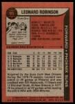 1979 Topps #95  Leonard Robinson  Back Thumbnail