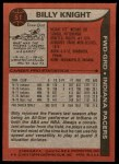 1979 Topps #51  Billy Knight  Back Thumbnail