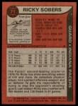 1979 Topps #71  Ricky Sobers  Back Thumbnail
