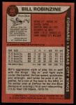 1979 Topps #68  Bill Robinzine  Back Thumbnail