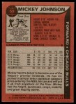 1979 Topps #59  Mickey Johnson  Back Thumbnail