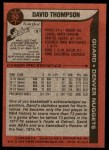 1979 Topps #50  David Thompson  Back Thumbnail