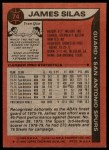 1979 Topps #74  James Silas  Back Thumbnail