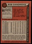 1979 Topps #130  Bob Dandridge  Back Thumbnail