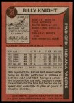 1979 Topps #51  Billy Knight  Back Thumbnail