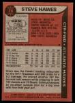 1979 Topps #78  Steve Hawes  Back Thumbnail