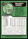 1977 Topps #63  Wilbert Jones  Back Thumbnail