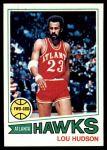 1977 Topps #85  Lou Hudson  Front Thumbnail