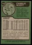 1977 Topps #125  Charlie Scott  Back Thumbnail