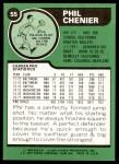 1977 Topps #55  Phil Chenier  Back Thumbnail