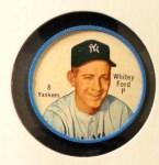 1962 Salada Coins #8  Whitey Ford  Front Thumbnail