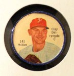 1962 Salada Coins #141  Clay Dalrymple  Front Thumbnail