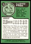 1977 Topps #18  Lloyd Free  Back Thumbnail