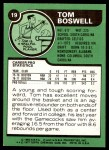 1977 Topps #19  Tom Boswell  Back Thumbnail