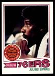 1977 Topps #100  Julius Erving  Front Thumbnail
