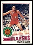 1977 Topps #80  Maurice Lucas  Front Thumbnail